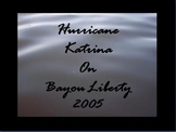 First Person Hurricane Katrina Visual Diary with Facts and Information