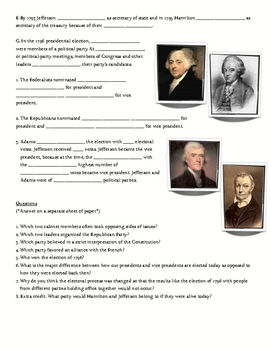 First Political Parties Federalist Democratic Republican Notes PowerPoint