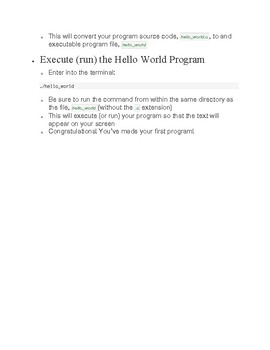First Program: Hello World in C