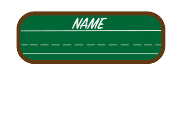 Chalk Name Plate