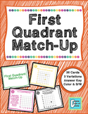 First Quadrant Graphing Matching Activity Game
