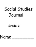 First Quarter Social Studies Journal Second Grade