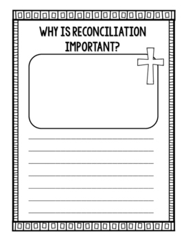 First Reconciliation Coloring and Writing