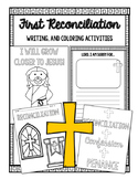 First Reconciliation Coloring and Writing| Distance Learning