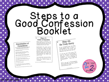First Reconciliation Booklet: Steps to a Good Confession
