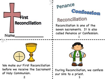 First Reconciliation Mini Book and Journal Pages
