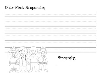 First Responder Thank You: 9/11 Extension Activity