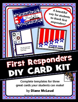 First Responders Thank You Card Kit 3 Complete Diy Card Templates