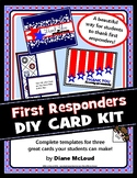 First Responders Thank-You Card Kit—Great for 9/11 - 3 DIY Card Templates