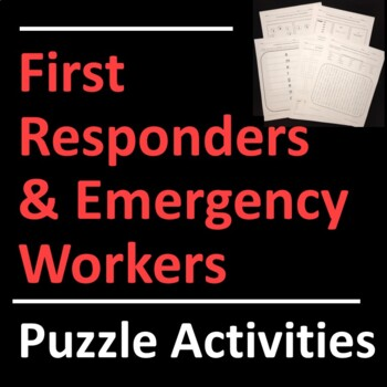 First Responders and Emergency Workers Puzzle Activities