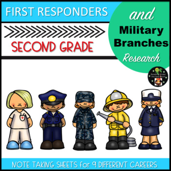 First Responders and Military Branches Career Research Second Grade