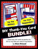 First Responders and Military DIY Thank You Card Kit Bundl