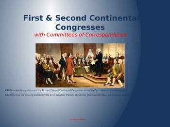 First & Second Continental Congress w/Correspondence
