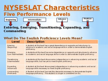 First/Second Grade 2019 NYSESLAT Overview Powerpoint