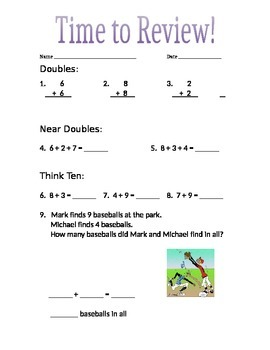First/Second Grade Addition/Subtraction Review