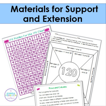 First and Second Grade Math Bundle 240 Riddle Task Cards for the 120 Chart