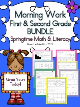 First & Second Grade Morning Work Bundle
