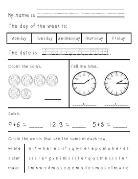 First/Second Grade Morning Work January through June - growing bundle
