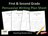 First & Second Grade Persuasive Essay Writing Plan Sheet (Lucy Calkins Inspired)