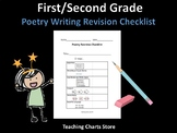 First / Second Grade Poetry Writing Revision Checklist (Lu