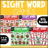 First and Second Grade Sight Word Game Bundle Fall and Winter Themes
