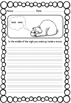 First & Second Grade Writing Prompts with Rubrics