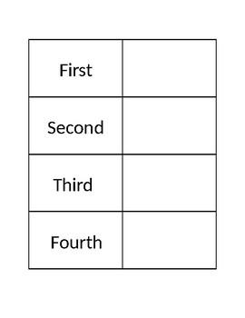 Speech/OT/PT Visual Schedule