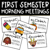 Social Distance   First Semester Morning Meeting Bundle!