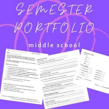 Semester Portfolio - Middle School