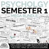 First Semester Psychology Activities, Viewing Guides, & Ga