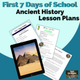 Ancient Civilizations: First Days of School