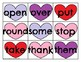 First Grade Sight Word Cards Valentine's Day