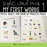 Sight Word Pack 1- My first words for  Special Ed and Down