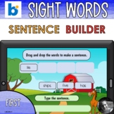 First Sight Word Sentence Builder Boom Cards™