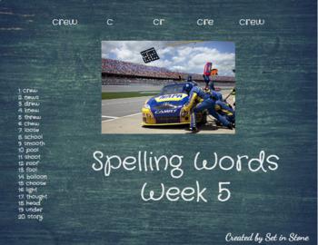 First Six Weeks Spelling Words