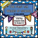 First Six Weeks of School Companion BUNDLE