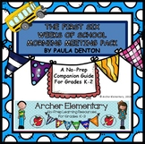 First Six Weeks of School Morning Meeting Planner and Posters