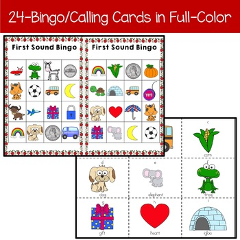First Sound Fluency BINGO Phonemic Awareness Activity