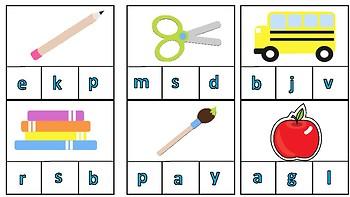 First Sound Clip Puzzle (School)
