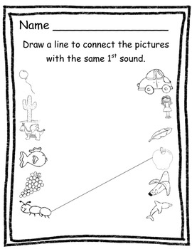 First Sound Concentration and Printables