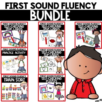 First Sound Fluency Activities Phonics Practice and Games Bundle