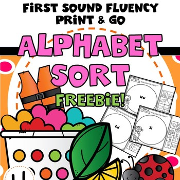 Beginning Sounds Alphabet Letter Sort