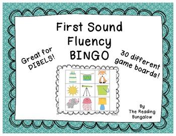 First Sound Fluency Bingo (Great for DIBELS)