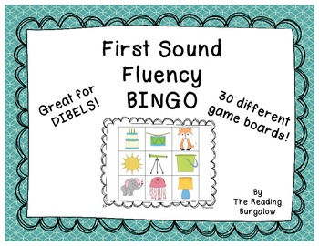 First Sound Fluency Bingo (Great for DIBELS)