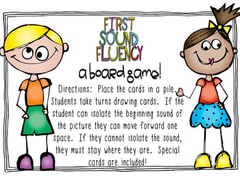 First Sound Fluency Board Game