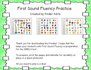 First Sound Fluency: DIBELS Practice