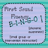 First Sound Fluency (FSF) BINGO - Phonemic Awareness