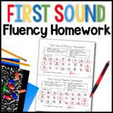 First Sound Fluency Homework (RTI for Kindergarten)