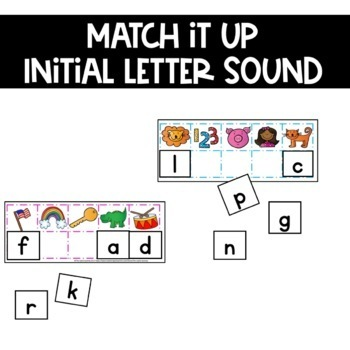 First Sound Fluency Practice Game Alphabet Letter Sound Identification
