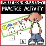 First Sound Fluency Practice Game Alphabet Letter Sound Identification